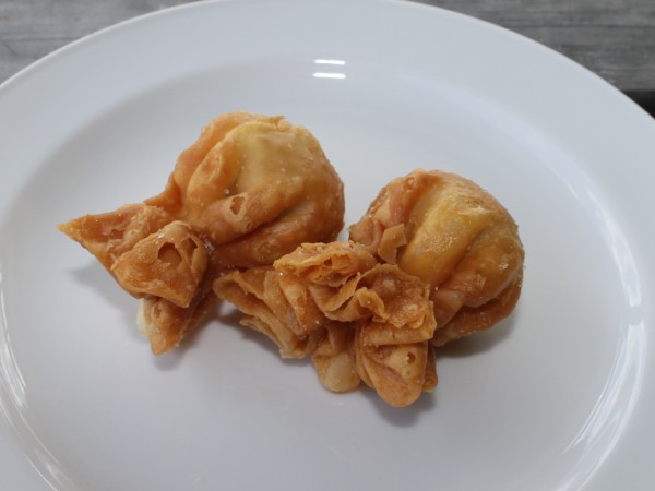 chicken and pork wontons