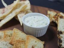 Artichoke dip & crostini
