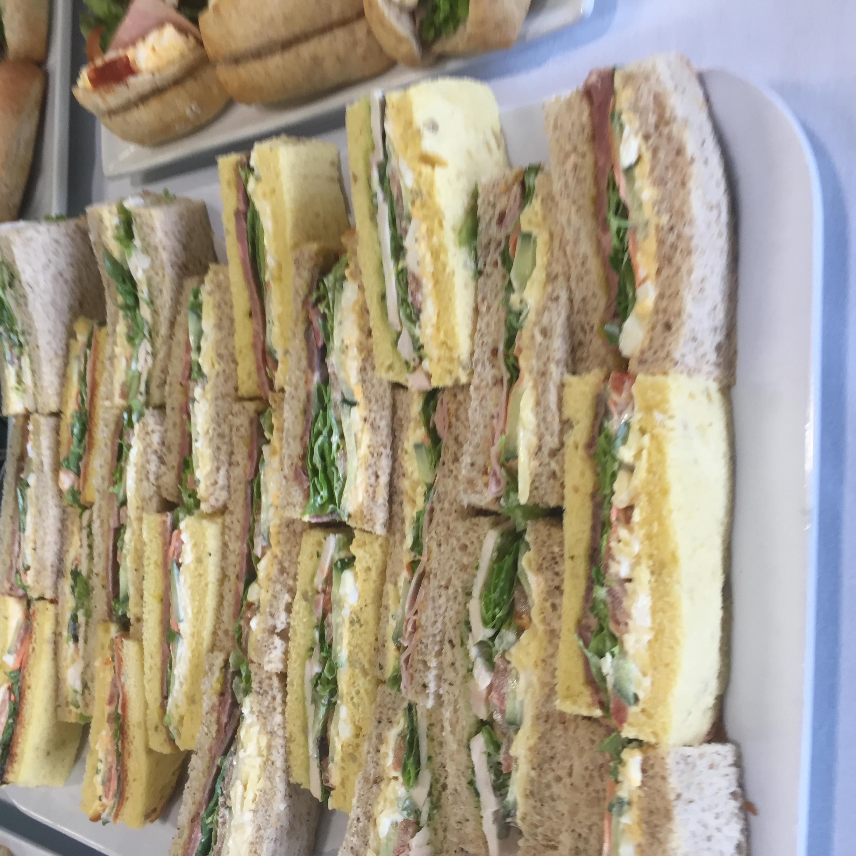 high tea style fingers sandwiches